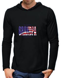 Grandpa Tallahassee - Us Flag Hooded Long Sleeve T-Shirt-Mens