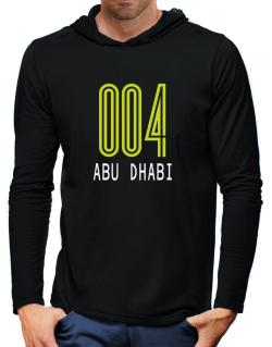 Iso Code Abu Dhabi - Retro Hooded Long Sleeve T-Shirt-Mens