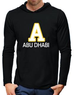 """ Abu Dhabi - Initial "" Hooded Long Sleeve T-Shirt-Mens"