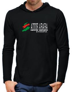 Brush Addis Ababa Hooded Long Sleeve T-Shirt-Mens