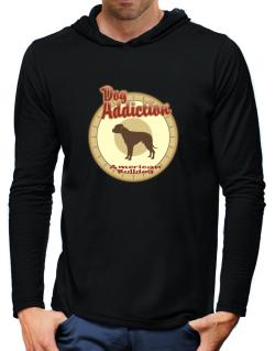 Dog Addiction : American Bulldog Hooded Long Sleeve T-Shirt-Mens