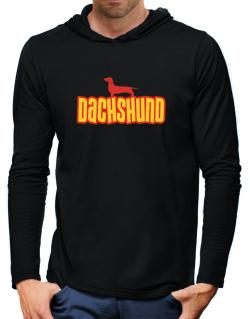 Breed Color Dachshund Hooded Long Sleeve T-Shirt-Mens