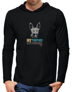 """ Fox Terrier MY BEST FRIEND - URBAN STYLE "" Hooded Long Sleeve T-Shirt-Mens"