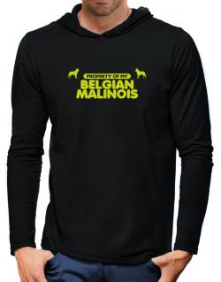 Property Of My Belgian Malinois Hooded Long Sleeve T-Shirt-Mens