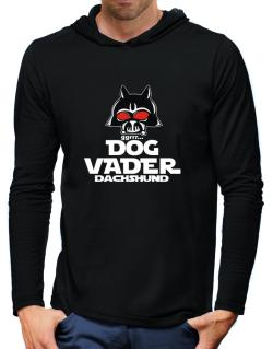 Dog Vader : Dachshund Hooded Long Sleeve T-Shirt-Mens