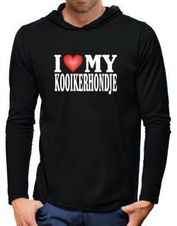 I Love Kooikerhondje Hooded Long Sleeve T-Shirt-Mens