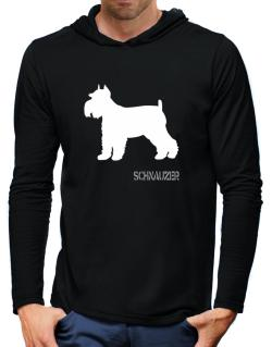 Schnauzer Hooded Long Sleeve T-Shirt-Mens