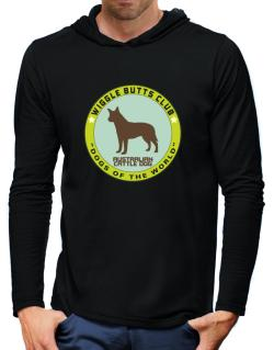 Australian Cattle Dog - Wiggle Butts Club Hooded Long Sleeve T-Shirt-Mens