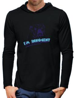 I'm Innocent American Bulldog Hooded Long Sleeve T-Shirt-Mens