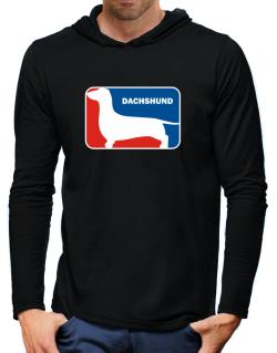 Dachshund Sports Logo Hooded Long Sleeve T-Shirt-Mens