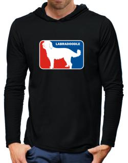 Labradoodle Sports Logo Hooded Long Sleeve T-Shirt-Mens