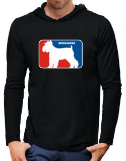 Schnauzer Sports Logo  Hooded Long Sleeve T-Shirt-Mens