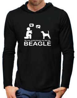 No One Understands Me Like My Beagle Hooded Long Sleeve T-Shirt-Mens