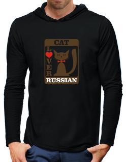 Cat Lover - Russian Hooded Long Sleeve T-Shirt-Mens