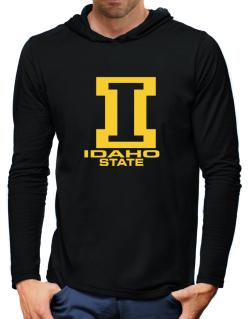 """ STATE ABC Idaho "" Hooded Long Sleeve T-Shirt-Mens"