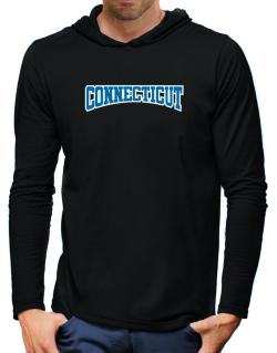 Classic Connecticut Hooded Long Sleeve T-Shirt-Mens