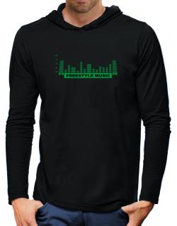 Freestyle Music - Equalizer Hooded Long Sleeve T-Shirt-Mens