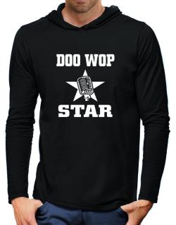 Doo Wop Star - Microphone Hooded Long Sleeve T-Shirt-Mens