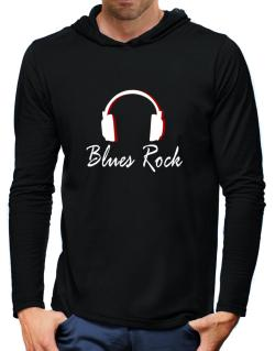 Blues Rock - Headphones Hooded Long Sleeve T-Shirt-Mens