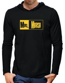Mrs. Marsh Hooded Long Sleeve T-Shirt-Mens