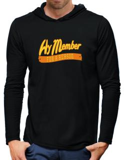 Hy Member For A Reason Hooded Long Sleeve T-Shirt-Mens