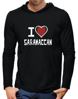 I Love Saramaccan Hooded Long Sleeve T-Shirt-Mens