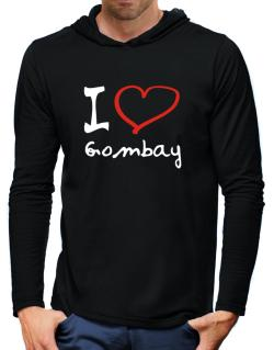 I Love Gombay Hooded Long Sleeve T-Shirt-Mens