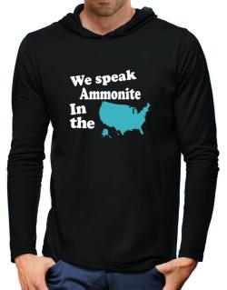 Ammonite Is Spoken In The Us - Map Hooded Long Sleeve T-Shirt-Mens