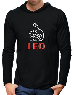Leo - Cartoon Hooded Long Sleeve T-Shirt-Mens