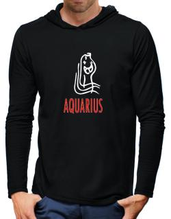 Aquarius - Cartoon Hooded Long Sleeve T-Shirt-Mens