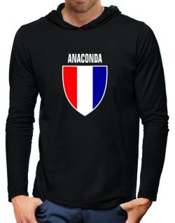 Anaconda Escudo Usa Hooded Long Sleeve T-Shirt-Mens