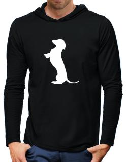 Begging Dachshund Hooded Long Sleeve T-Shirt-Mens