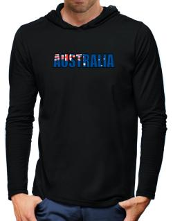 Australia Flag  Hooded Long Sleeve T-Shirt-Mens