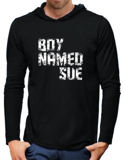 Boy Named Sue Hooded Long Sleeve T-Shirt-Mens