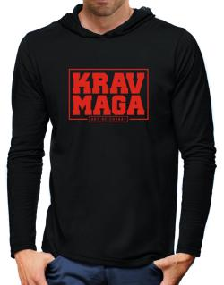 Krav maga art of combat Hooded Long Sleeve T-Shirt-Mens