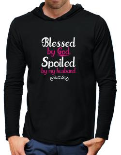 Blessed by god spoiled by my husband Hooded Long Sleeve T-Shirt-Mens