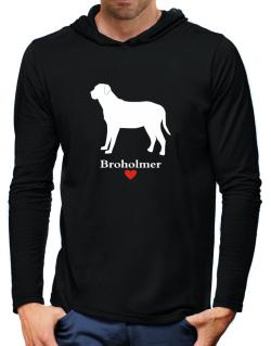 Broholmer love Hooded Long Sleeve T-Shirt-Mens