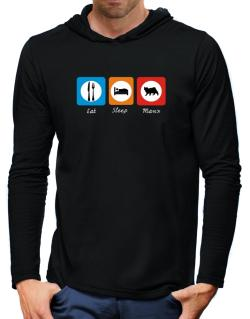 Eat sleep Manx Hooded Long Sleeve T-Shirt-Mens