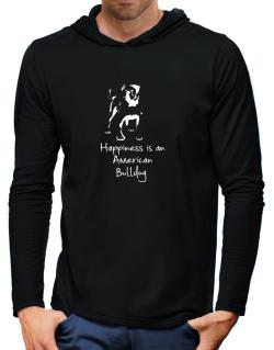 Happiness is a American Bulldog Hooded Long Sleeve T-Shirt-Mens
