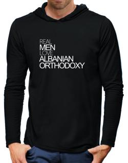 Real men love Albanian Orthodoxy Hooded Long Sleeve T-Shirt-Mens