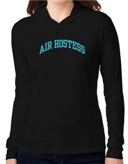 Air Hostess Hooded Long Sleeve T-Shirt Women