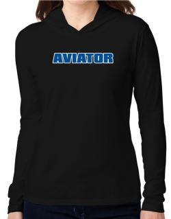 Aviator Hooded Long Sleeve T-Shirt Women