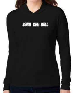 Rock And Roll - Simple Hooded Long Sleeve T-Shirt Women