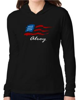 Alroy - Us Flag Hooded Long Sleeve T-Shirt Women