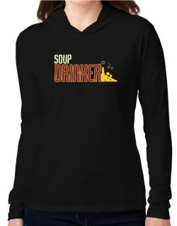 Soup Drinker Hooded Long Sleeve T-Shirt Women