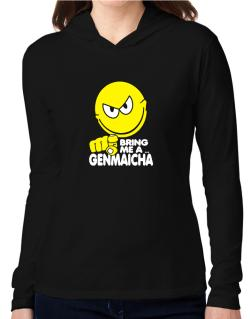 Bring Me A ... Genmaicha Hooded Long Sleeve T-Shirt Women