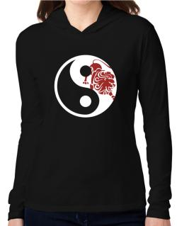 Yin Yang Leo Hooded Long Sleeve T-Shirt Women