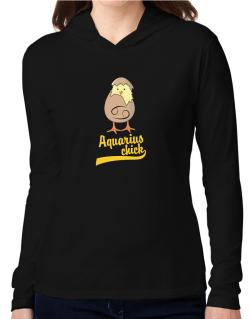 Aquarius Chick Hooded Long Sleeve T-Shirt Women