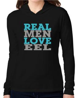 Real Men Love Eel Hooded Long Sleeve T-Shirt Women