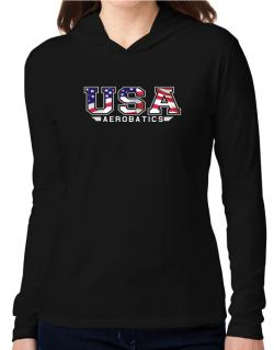 Usa Aerobatics / Flag Clip - Army Hooded Long Sleeve T-Shirt Women